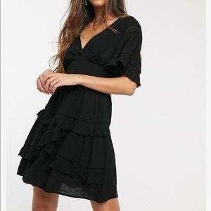 Smock Dress with Lace Detail